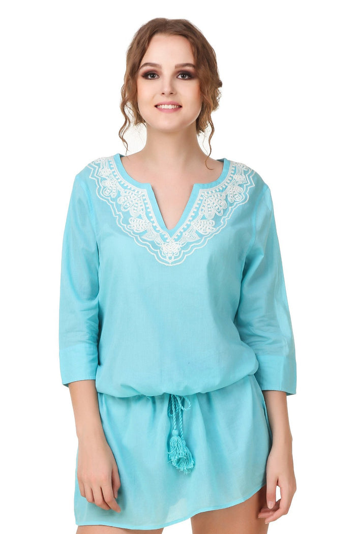 Tunic Dress With Embroidery - Mistics