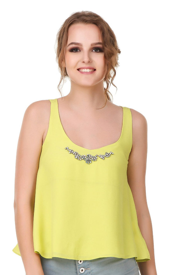 Solid Sleeveless Top - Mistics