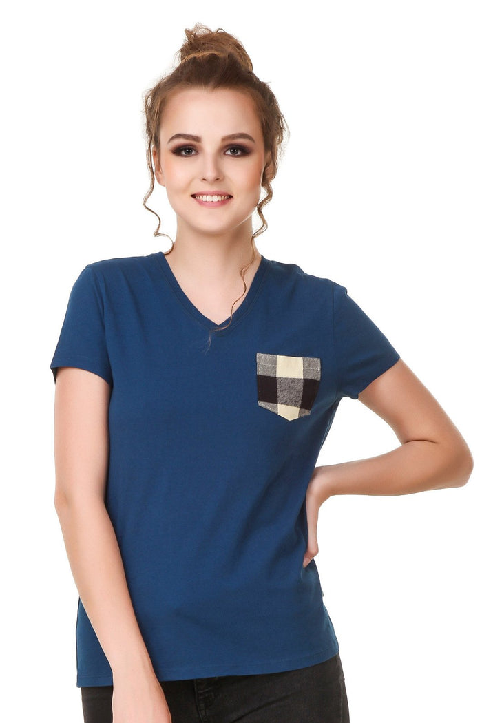 T-Shirt with Check Pockets - Mistics