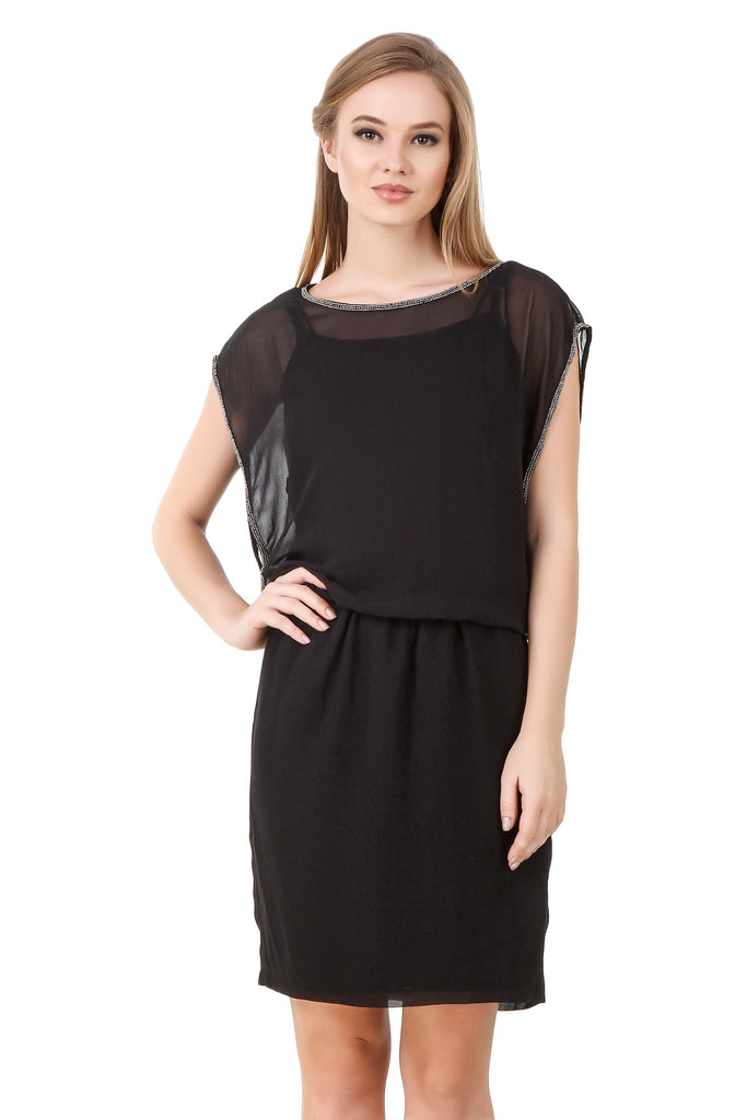 Black Net Dress - Mistics