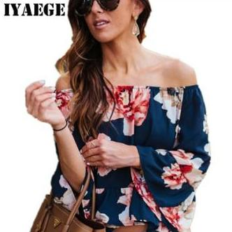 Floral Off Shoulder Tops - Mistics