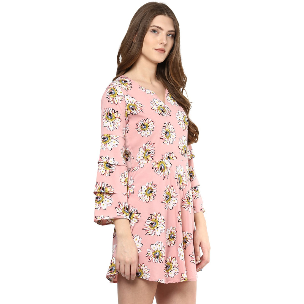 Bell-Sleeve Skater Dress - Mistics