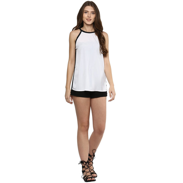 B/W Sleeveless Top - Mistics