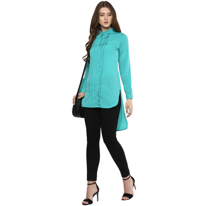 LOW HIGH RAMA GREEN TOP - Mistics