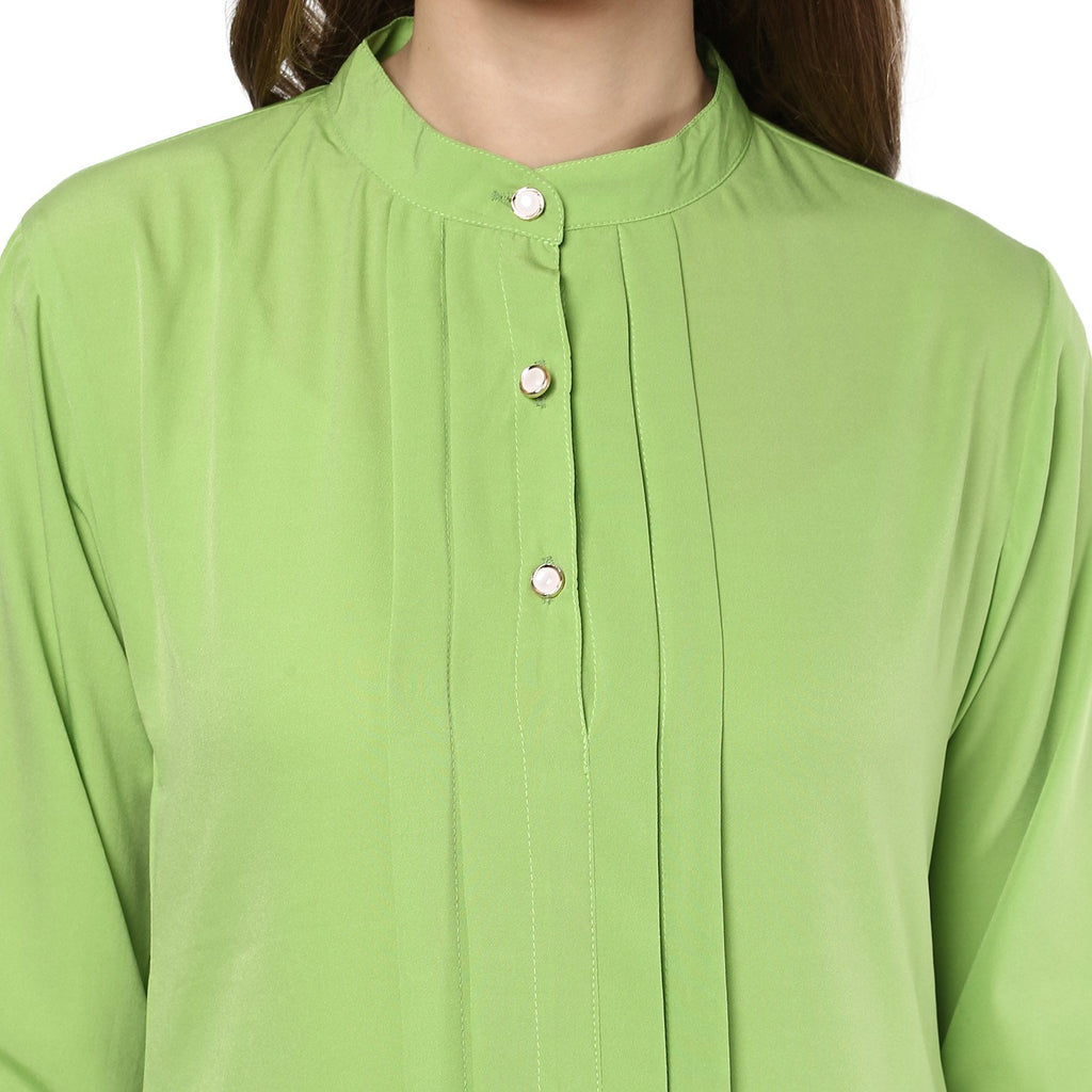 LOW HIGH LIGHT GREEN TOP - Mistics