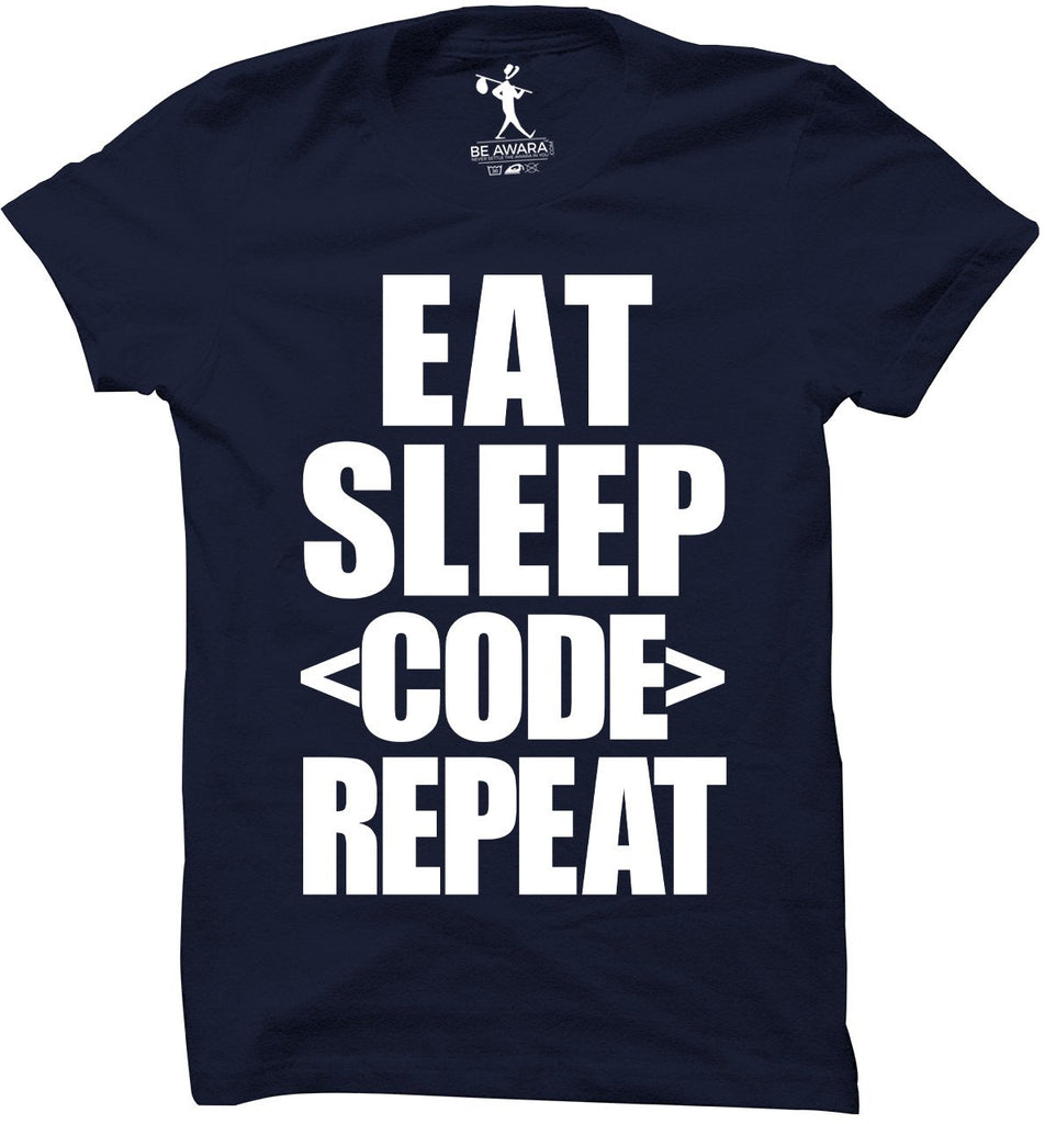 Eat Sleep Code Repeat T-Shirt - Mistics