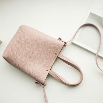 Soft Leather Crossbody  Bag - Mistics