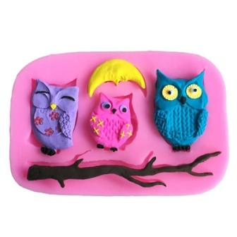 Owl Silicon Mould - Mistics