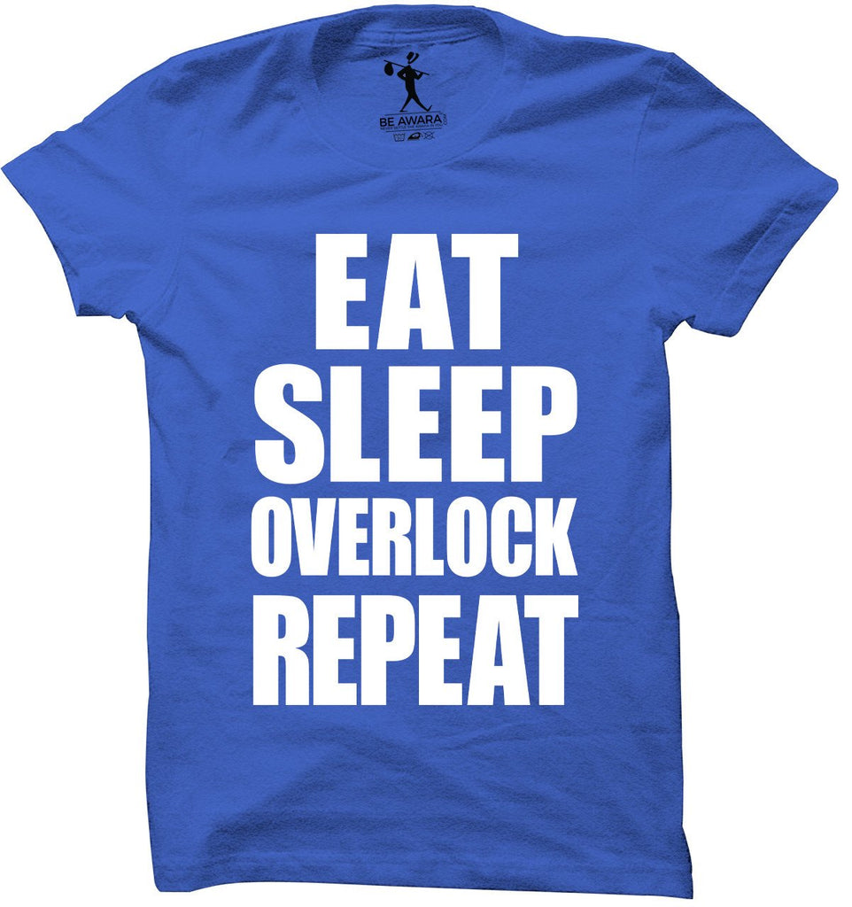 Eat Sleep Overlock Repeat T-Shirt - Mistics