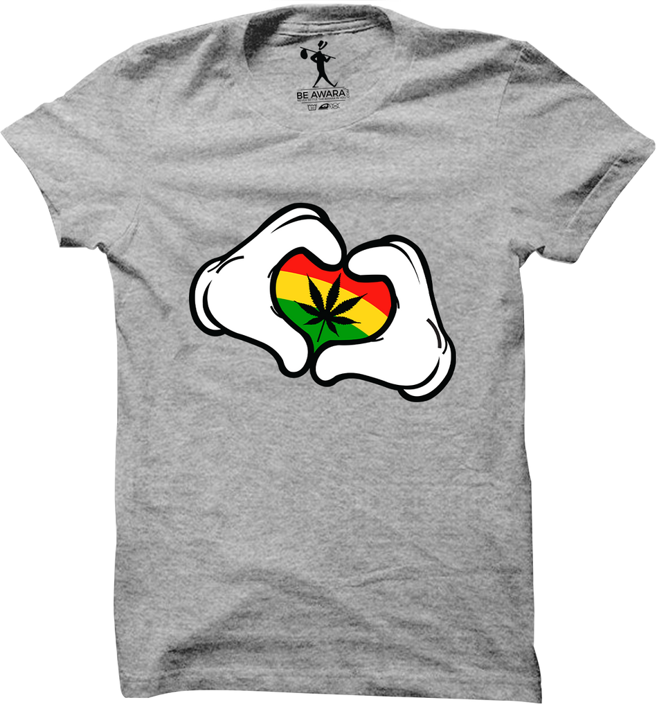 Mickey Weed Heart T-Shirt - Mistics