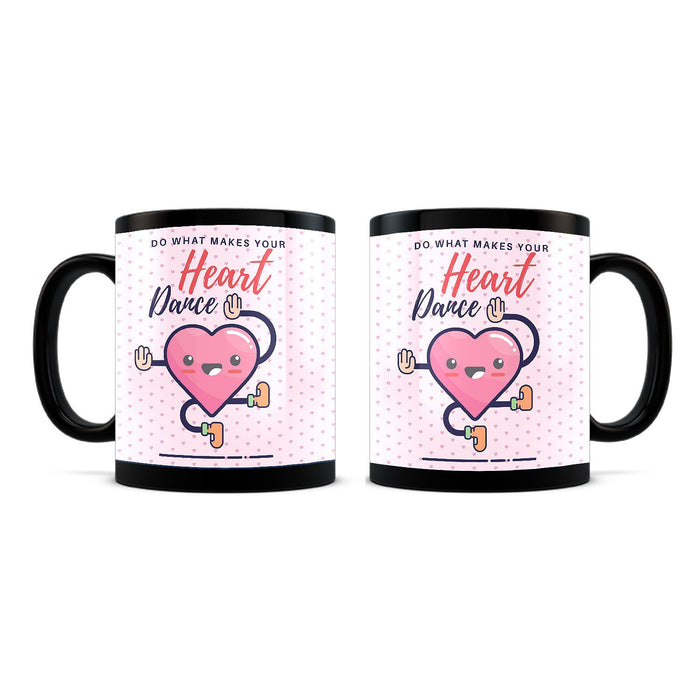 Make your Heart Sing Black mug