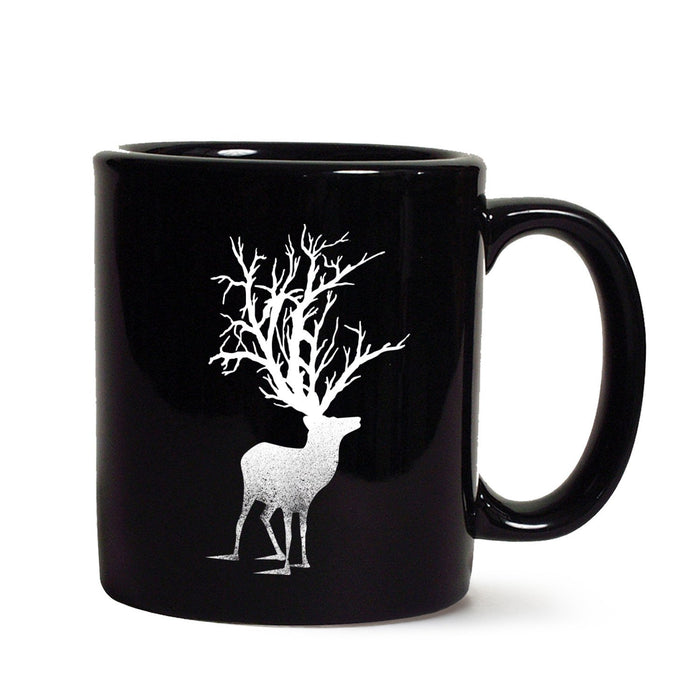 Abstract Deer Black Mug - Mistics