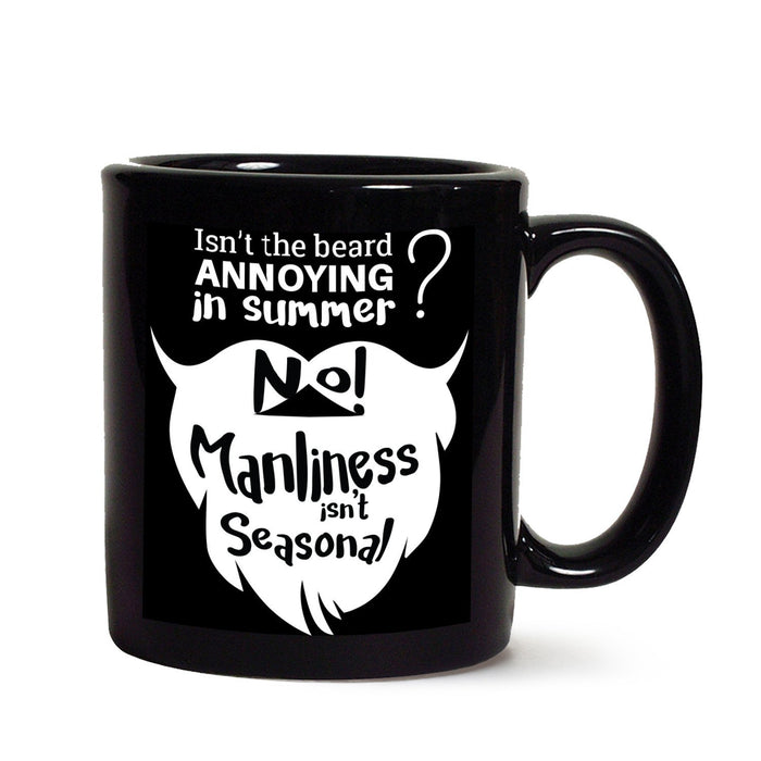 Manliness Black Coffee Mug