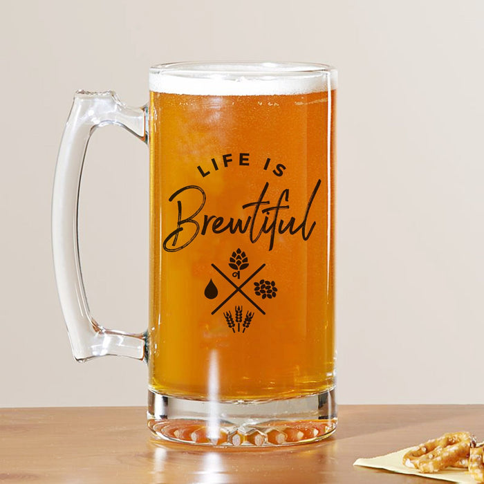 Life Is Brewtiful Beer Mug