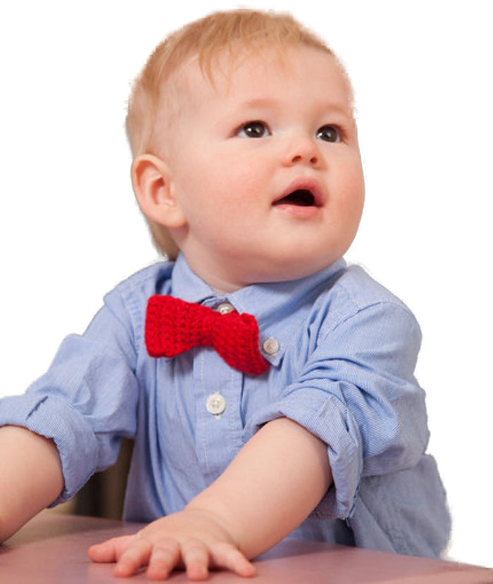 Crochet Baby Bow tie for little man - Mistics