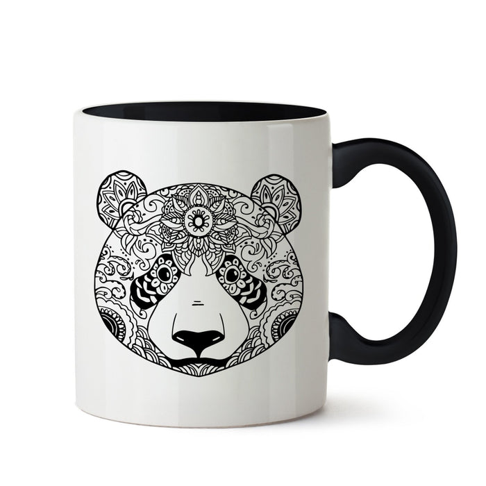 Ethnic Panda Art White Coffee Mug - Mistics