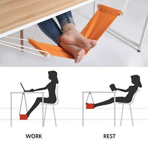 EXCLUSIVE TUZECH MINI OFFICE FOOT REST STAND ADJUSTABLE DESK FEET HAMMOCK - Mistics
