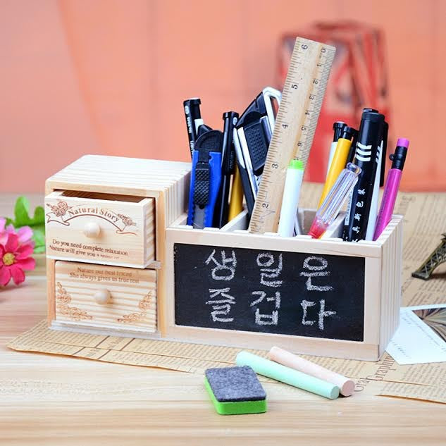 Wooden Holder Blackboard - Mistics
