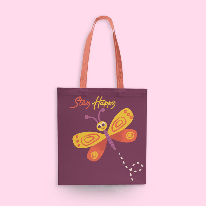 Stay Happy Tote Bag - Mistics