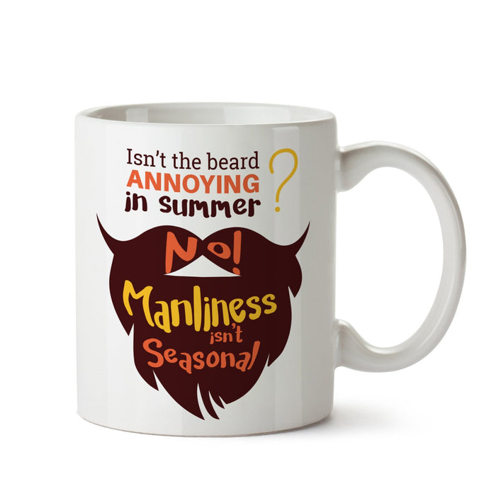 Beard White Coffee Mug - Mistics