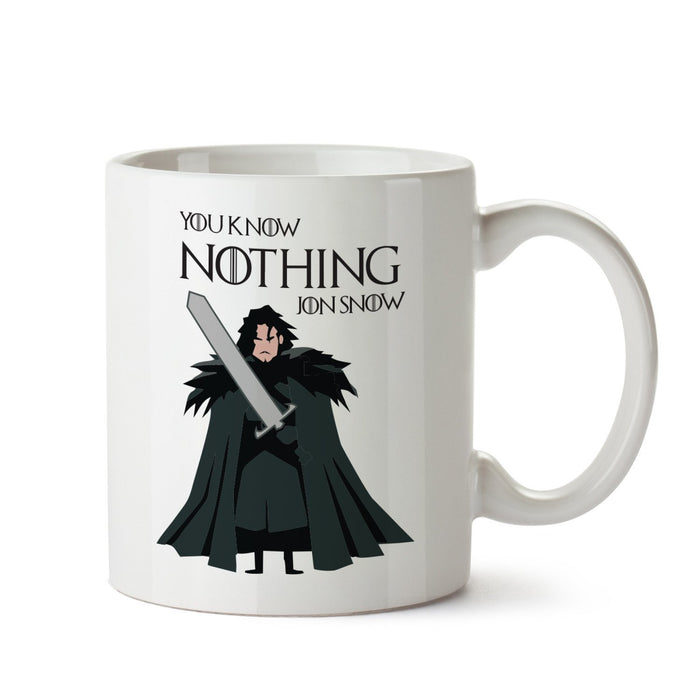 Jon Snow White Coffee Mug - Mistics