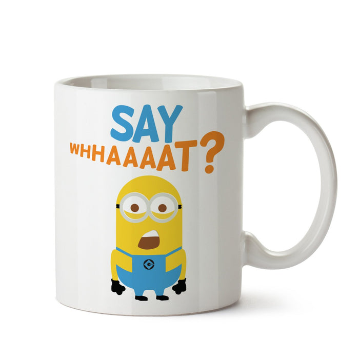 Minion Say What? White Coffee Mug