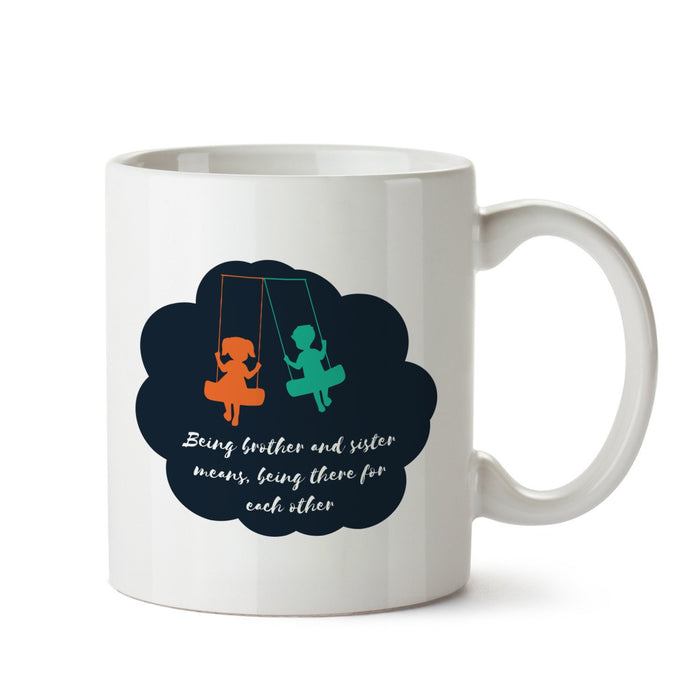 Brother And Sister White Coffee Mug - Mistics
