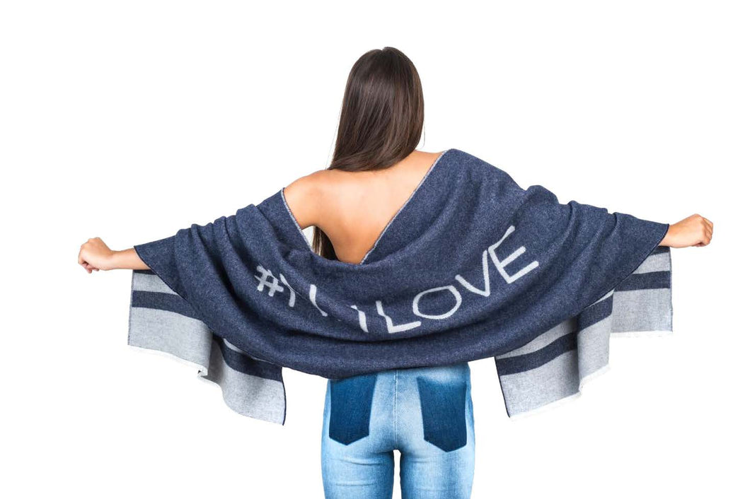 N. 1LOVE Denim & Grey Scarf