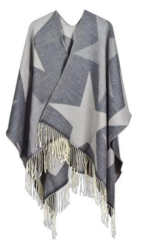 Stars Denim Cape