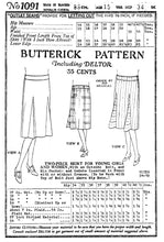 # 1091 - 1920's Skirt With Godets -  PDF Download