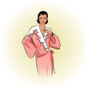 # 1946 - Art Deco Dressing Gown or Bed Jacket - PDF Download