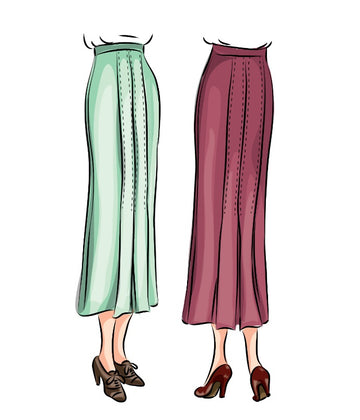 # 8030 - 1930 Skirt With Kick Pleats