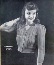 Conquest 1940 Cardigan Pattern