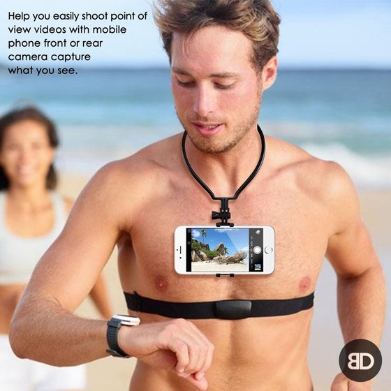 Phone Mount Wearable Neck Smartphone Holder