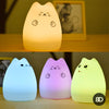 Colorful Cat Silicone LED