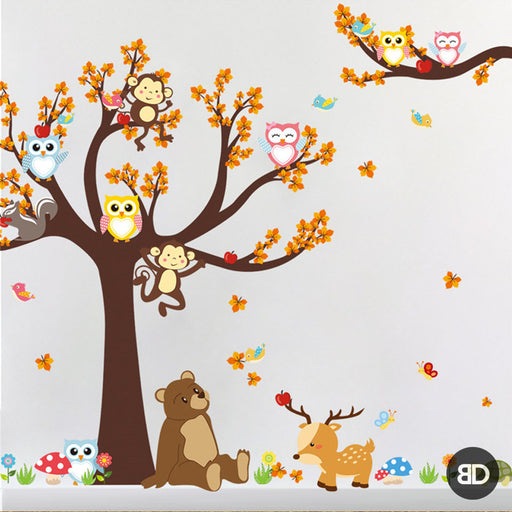Animal Cartoon Wall Stickers