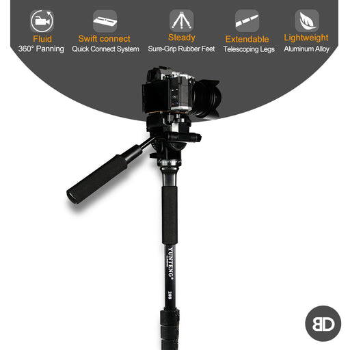 Monopod + Fluid Pan Head