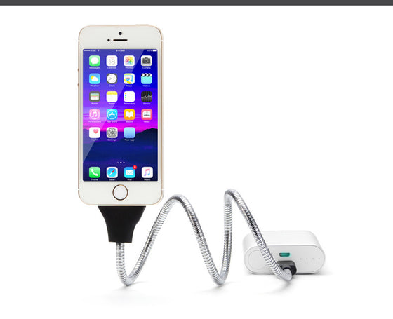Phone Charger Car Dock Flexible Stand up Cable