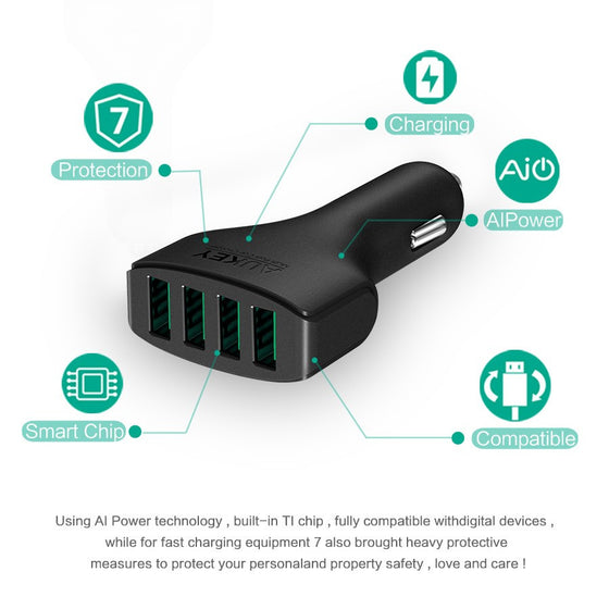 Car-Charger 4 ports Universal USB