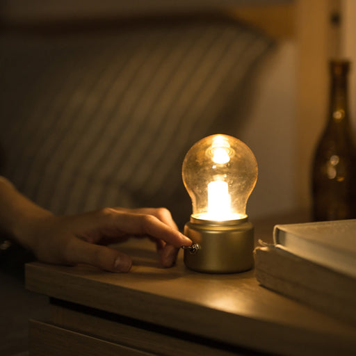 Retro Bulb Shaped Rechargeable Lamp