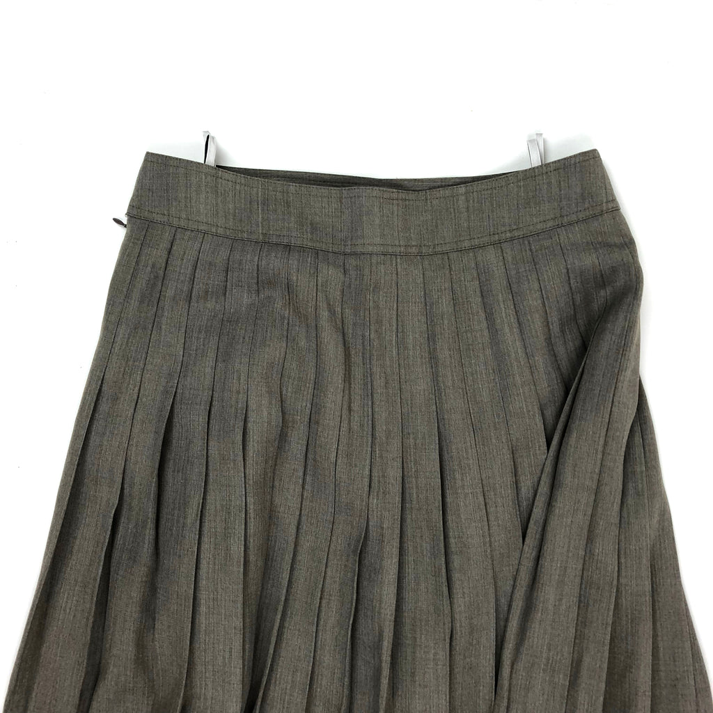 Grijze vintage pleaded maxi-skirt, mt 40-42