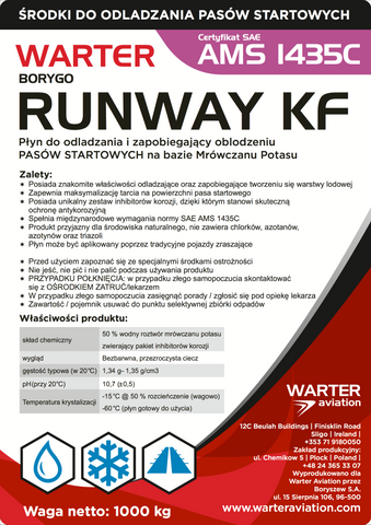 WARTER RUNWAY KF AMS 1431C fluid based on potassium formate