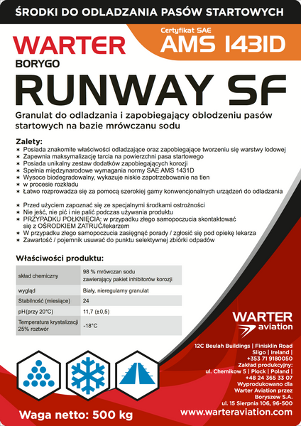 WARTER RUNWAY SF AMS 1431D solid granular based on sodium formate