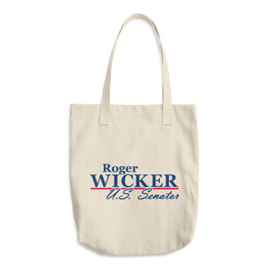 Roger Wicker For Senate Cotton Tote Bag