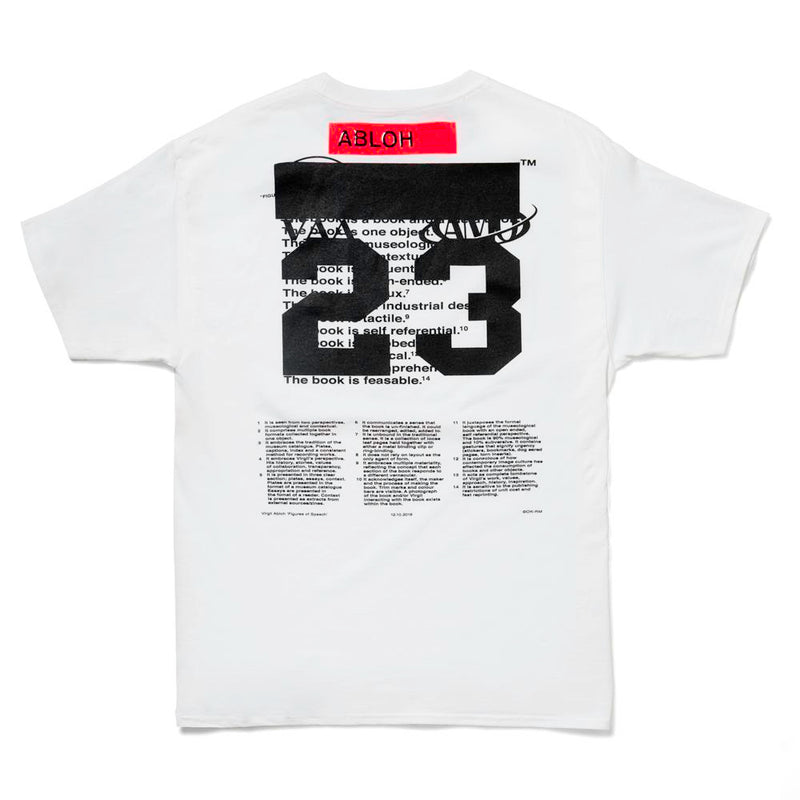 VIRGIL ABLOH X MCA FIGURES OF SPEECH PYREX CARAVAGGIO TEE WHITE
