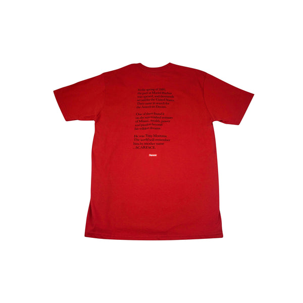 SUPREME SCARFACE FRIEND TEE RED