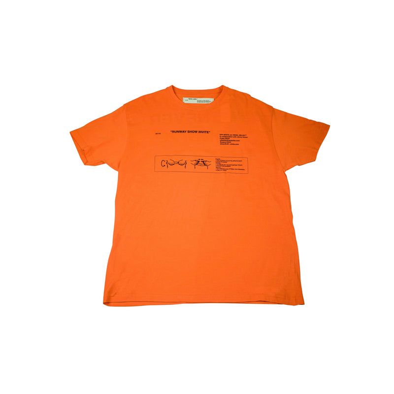 "OFF-WHITE ""SHOW INVITE"" T-SHIRT SS18 FLORENCE PITTI ORANGE (JUNE 2017)"