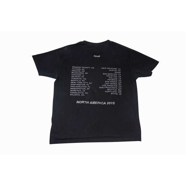 TRAVIS SCOTT NORTH AMERICA 2015 TOUR MERCH T-SHIRT BLACK