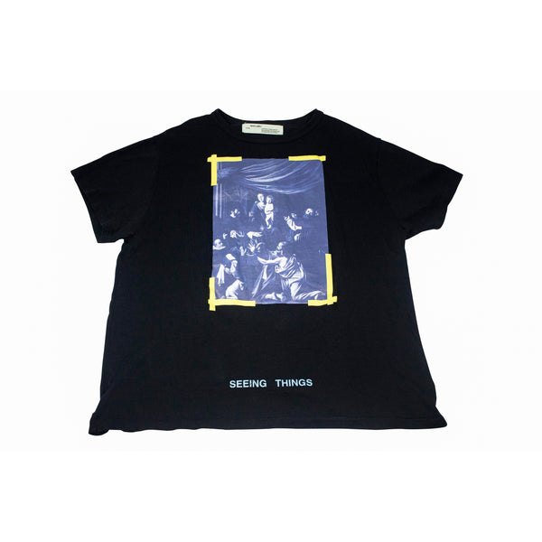 OFF-WHITE CARAVAGGIO SEEING THINGS T-SHIRT BLACK