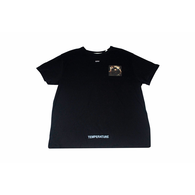 OFF-WHITE MINI CARAVAGGIO TEMPERATURE T-SHIRT BLACK